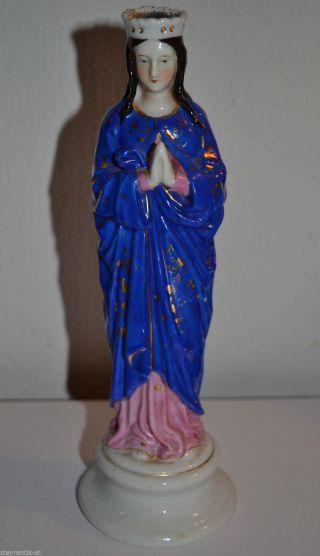 WunderschÖne Madonna - Maria Aus Porzellan Biedermeier C1830 Bild