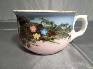 Antikes Kaffee/teehaferl - Mit Handbemalten Blumenmotiv -