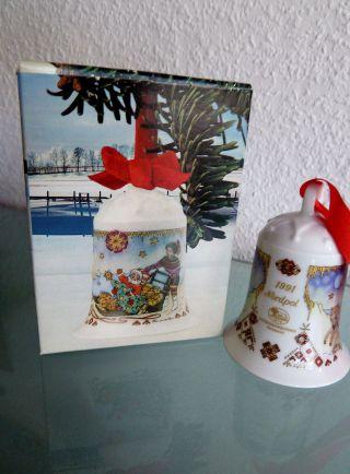 Weihnachtsglocke Hutschenreuther 1991