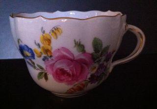 Meissen Kaffee Tee Tasse Bukett Mit Insekten Blaue Schwerter Nach 1945 Bild