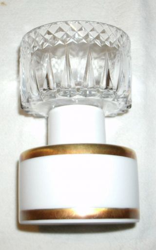 Hutschenreuther Selb Kerzenhalter Mitgoldrand Und Glasaufsatz Bild