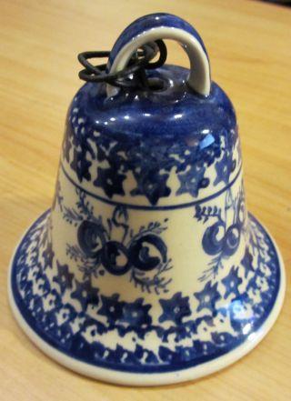 Weihnachtsglocke Bunzlauer Keramik Reine Handarbeit Christmas Bell Bild