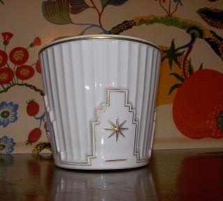 Augarten Porzellan Blumen Topf Entwurf Prutscher Wiener Werkstaette Art Deco Bild