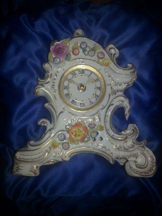 Kaminuhr Pmp Edmund Haase Porzellanmanufactur Plaue Seltmann Porzellan Uhr Bild