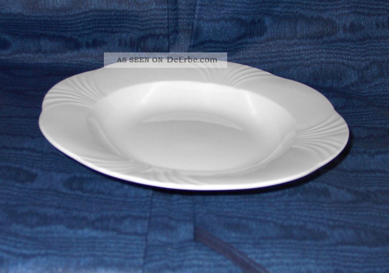 villeroy boch arco weiss suppenteller 2 porzellan nachlass bone china teller. Black Bedroom Furniture Sets. Home Design Ideas