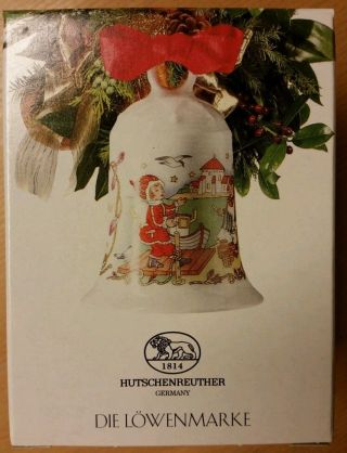 Hutschenreuter Weihnachtsglocke 1994 Motiv Ostseeinsel Mit Ovp Bild