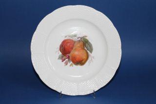 Kpm Berlin Kriegsmarke 1914 - 17 Teller Früchte Dekor Altozier D.  = Ca.  21,  5 Cm 1 Bild