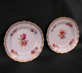 Zwei Dessertteller Mit Blumenbouquets,  Kpm - Berlin,  1.  Wahl,  1902 Bild