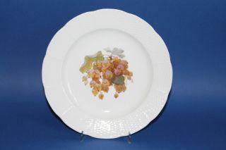 Kpm Berlin Kriegsmarke 1914 - 17 Teller Früchte Dekor Altozier D.  = Ca.  21,  5 Cm 10 Bild