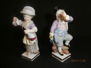 Meissen Porzellan / Porzellanfigur Figurenpaar Figur Gärtnerkind 19jhd.  1.  Wahl Bild