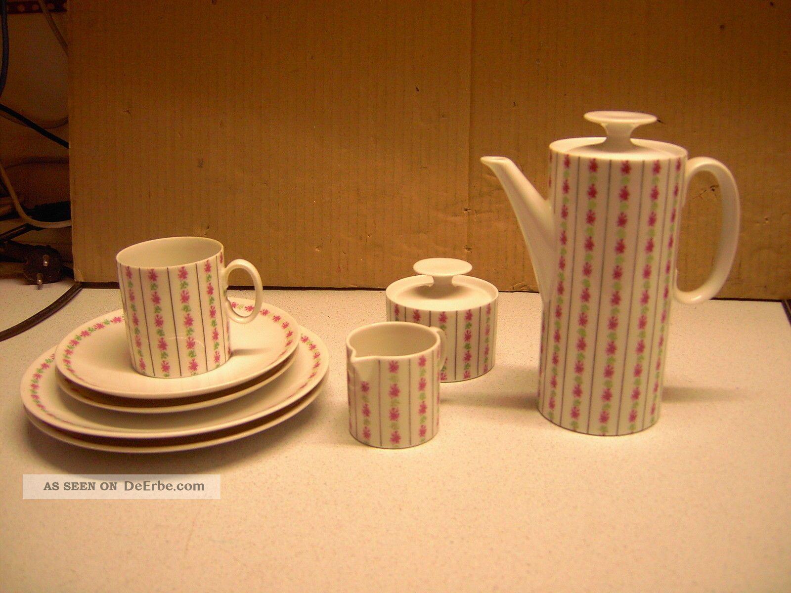 serviceteile thomas germany kaffeekanne milchkanne zuckerdose tasse teller alt. Black Bedroom Furniture Sets. Home Design Ideas