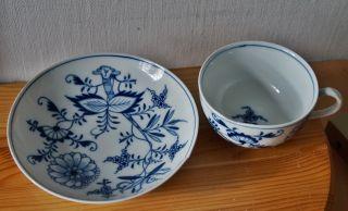 Meissen Schale Tasse Indisch Blau Knaufzeit Mit Mängeln Bild