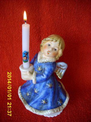 Hummel - Und Göbelfigur Engel In Blauem Kleid Bild