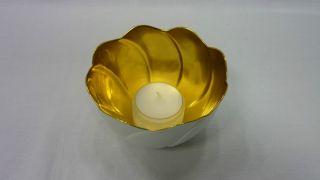 Teelicht Meissen Innen Vollvergoldet In Ovp 1.  Wahl Bild