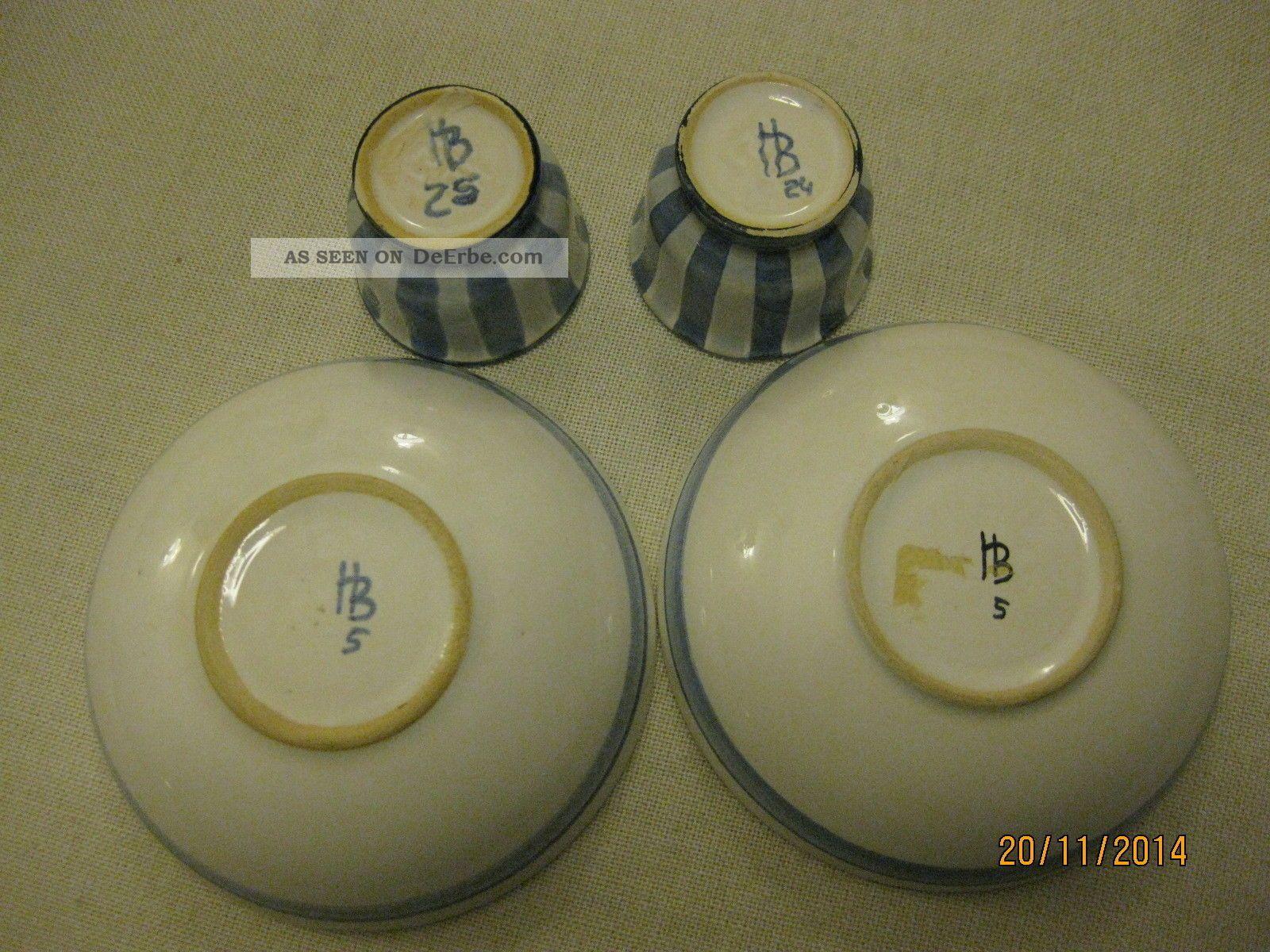 zwei eierbecher und zwei sch lchen hedwig bollhagen keramik. Black Bedroom Furniture Sets. Home Design Ideas