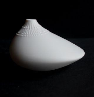 Rosenthal Studio Linie Vase Pollo Porzellan Wirkkala Bisquitporzellan Eierschale Bild