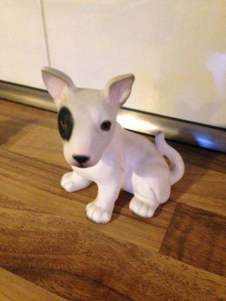 Bullterrier Hund Porzellan Royal Präsente Hundefigur Porzellanfigur Hk Weiß Bild