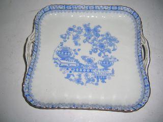 1924 Seltenes Tablett Echt Tuppack China Blau Tiefenfurt Bild