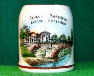 Altes Andenken Siebenlehn Sachsen Souvenir Porzellan Litho Zellhaus Um 1920 Bild