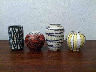 Konvolut 50er 60er Jahre Vasen Ilkra Ü Keramik Dk_50s 60s Vintage Ceramic Bild