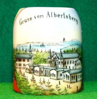 Altes Andenken Auerbach Souvenir Porzellan Gruß Aus Albertsberg Um1920 Vogtland Bild