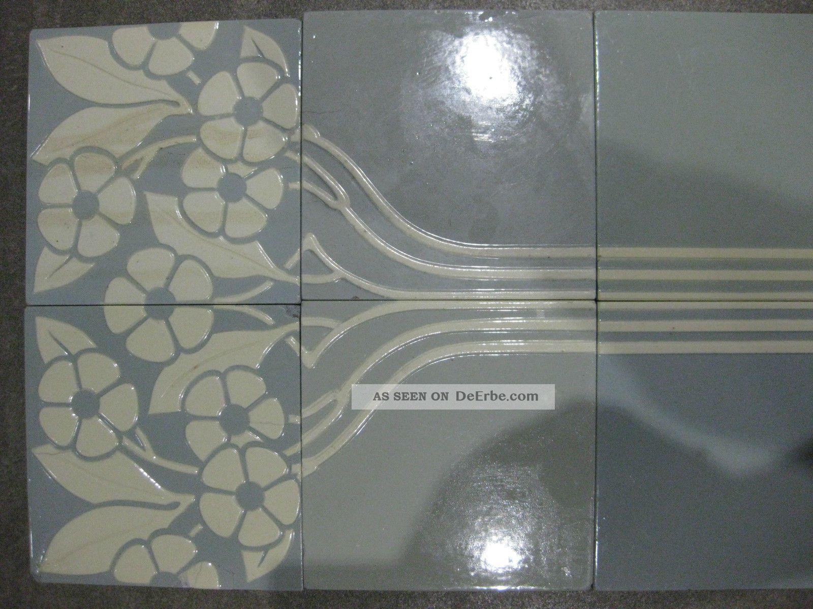 Fliesen Jugendstil Kacheln Villeroy Boch V B Mettlach Tile Art