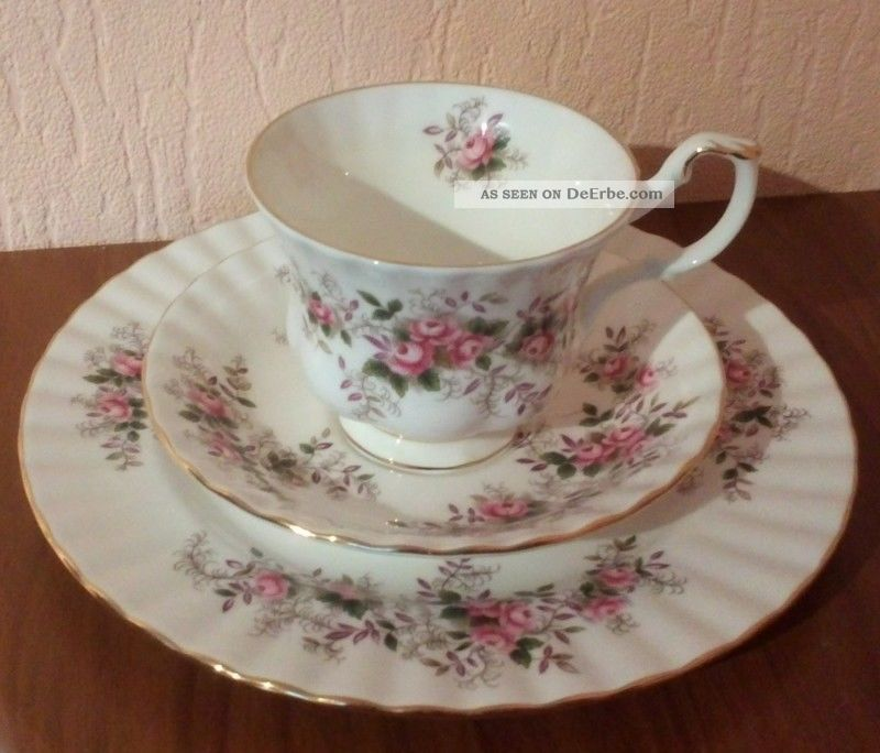 porzellan royal albert serie lavender rose sch nes 3 tlg kaffeegedeck. Black Bedroom Furniture Sets. Home Design Ideas
