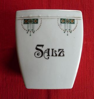 Vorratsbehälter Vorratsgefäß Küche Salz Jugendstil Alt Antik Bild