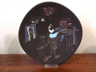 50er 60er Jahre Keramikteller Wandbild Ruscha Kiechle_60s 70s Wall Plate Bild