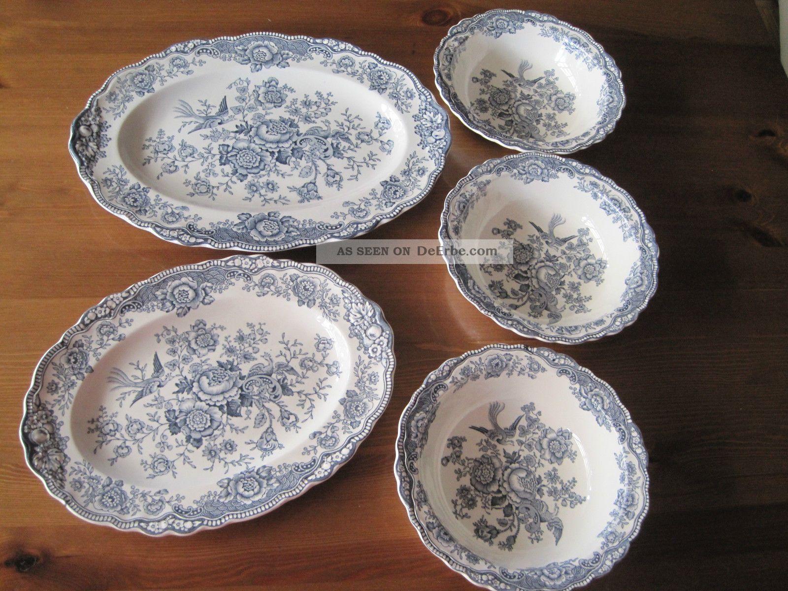 bristol crown ducal 3 schalen und 2 ovale platten. Black Bedroom Furniture Sets. Home Design Ideas