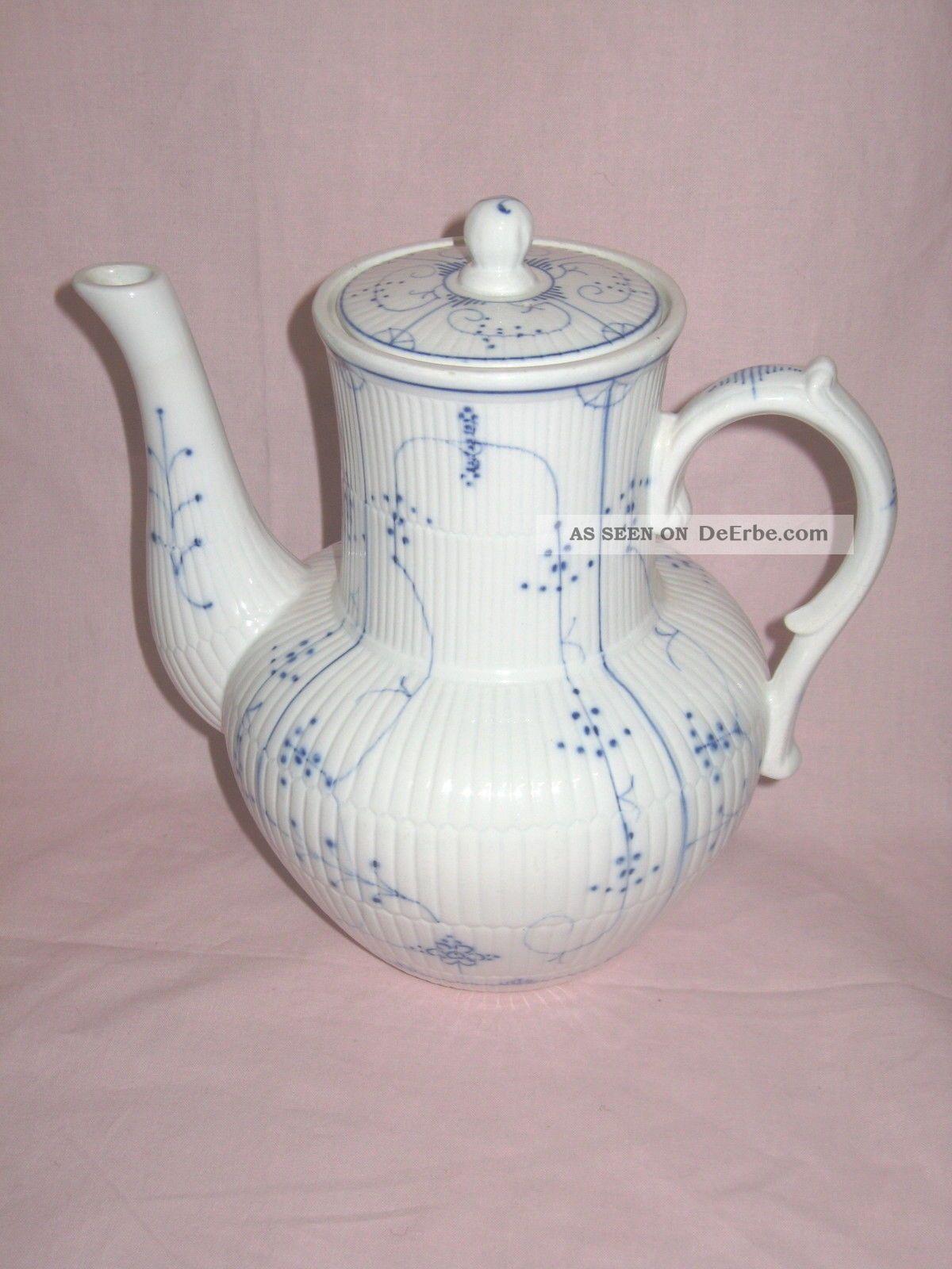 villeroy boch dresden kaffeekanne indisch blau strohblume ca 1890 1920 alt. Black Bedroom Furniture Sets. Home Design Ideas