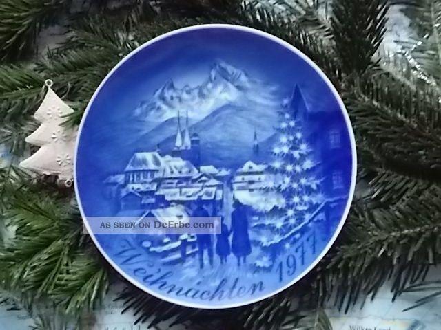 weihnachtsteller weihnachten 1977 berchtesgaden. Black Bedroom Furniture Sets. Home Design Ideas