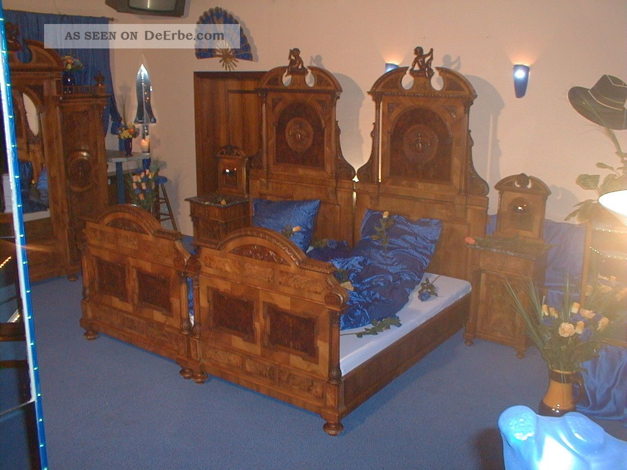 Antik - Komplettes Schlafzimmer Aus Dem Jahr Ca. 1850