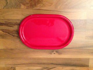 Wächtersbach Platte Teller Fleischplatte Kuchenplatte Rot Bild