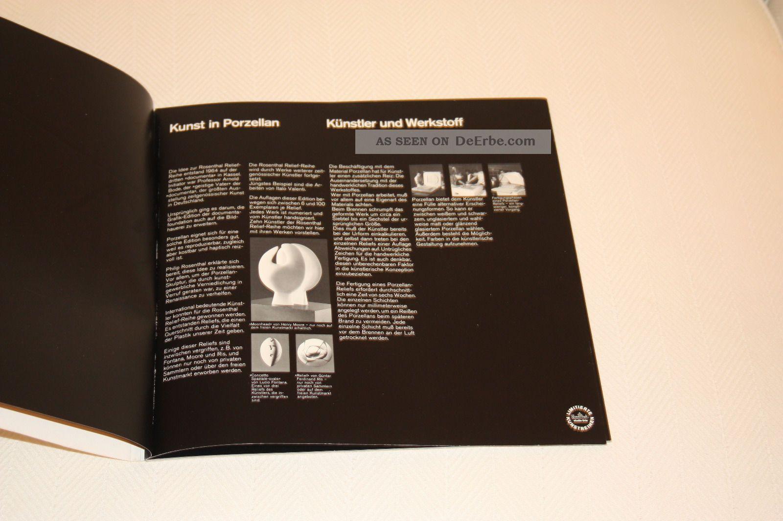 rosenthal katalog kunst in porzellan aus der rosenthal relief reihe. Black Bedroom Furniture Sets. Home Design Ideas