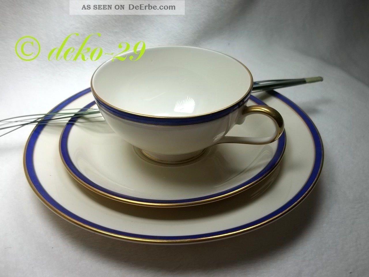 rosenthal 1 gedeck tasse teller goldrand kobaltblau dekor. Black Bedroom Furniture Sets. Home Design Ideas