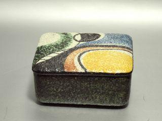 Design 50er Jahre Ruscha Keramik Deckeldose Dekor Milano Von Tschörner Um 1954 Bild