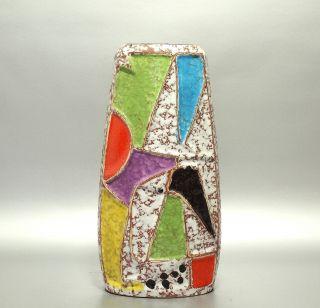 Design 60er Jahre Bay Keramik Vase Dekor Ravenna Von Bodo Mans Modellnr.  1032 - 20 Bild