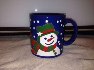 Wächtersbach Kaffeetasse Kaffee Tasse Pott Blau Weihnachten Schneemann Bild