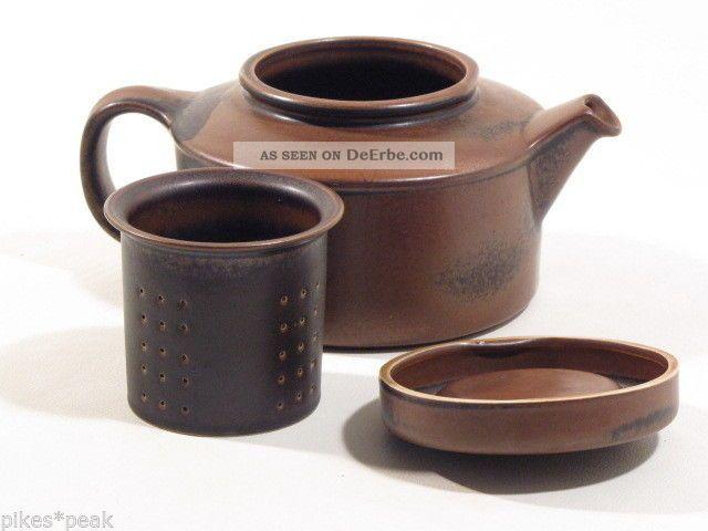 arabia ruska keramik teekanne mit sieb braun design. Black Bedroom Furniture Sets. Home Design Ideas
