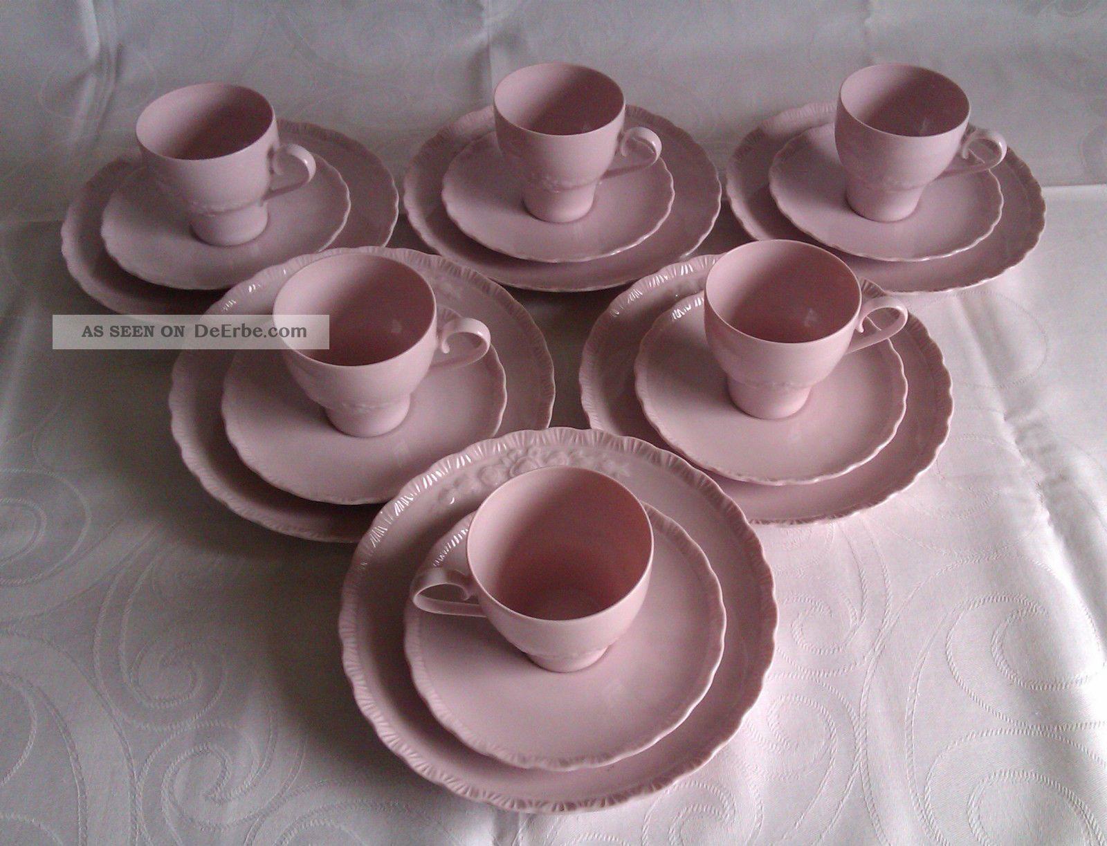 hutschenreuther kaffee service f r 6 pers porcelaine rose. Black Bedroom Furniture Sets. Home Design Ideas