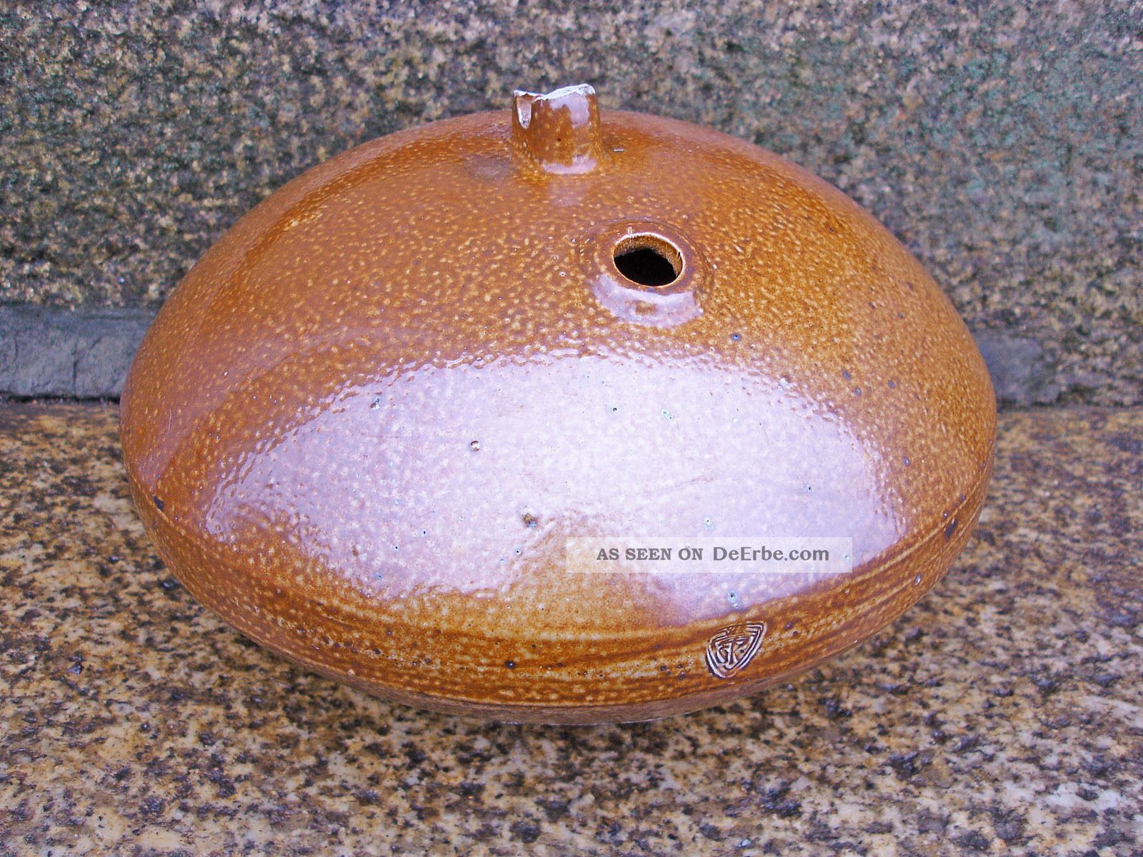 Alter schwimmer f r gartenteich o keramik steinzeug for Keramik deko garten