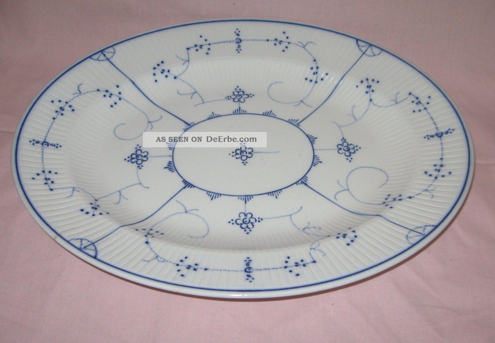 villeroy boch dresden fleischplatte indisch blau strohblume ca 1890 1920. Black Bedroom Furniture Sets. Home Design Ideas