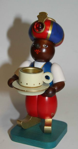 Räuchermann Kaffee - Mohr In Ovp.  Echt Erzgebirgsarbeit Bild