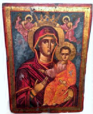 Maria Muttergottes Mit Jesus Amolintos Ikone Icon Mary Ikonen Orthodox Ikona Bild
