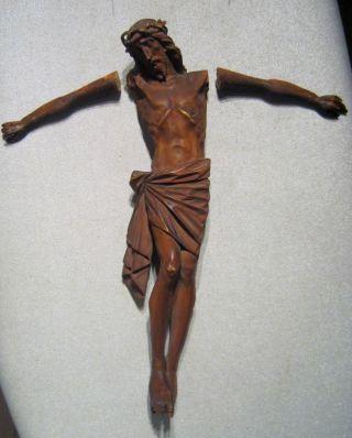 Biedermeier Geschnitzte Jesusfigur Aus Holz Für Ein Kreuz Um 1850 Od.  älter Bild