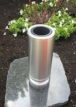 Grabvase Edelstahl (jansen) Pjk 845 Grabschmuck Vase Einsatz - - Bild