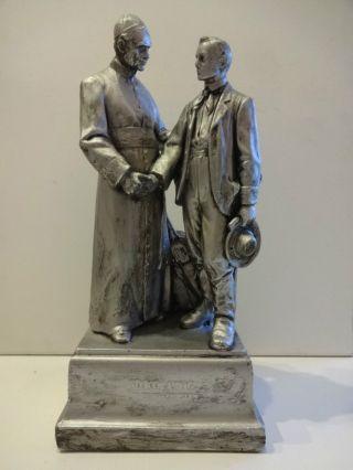 RaritÄt Alte Skulptur Adolf Kolping & Wandergeselle Keramik? Gips? Silberauflage Bild