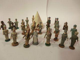 Uraltes Soldaten Camp Sanitätssoldaten Spielzeug Seiffen Erzgebirge 1915 Bild