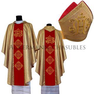 Gold Chasuble,  Mitre Kasel Messgewand,  Mitra Vestment Casula 505 - Gc,  M11 - Gc De Bild